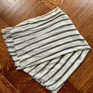 J.Crew Black/White Striped Scarf